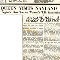 Newsclip 1935 Queen visits Nayland